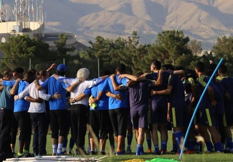 گزارش تمرین استقلال، صحبت های شفر و انگیزه بالای بازیکنان