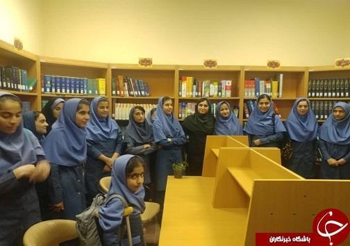 کتابخانه عمومی حکیم طوس لالی میزبان دانش آموزان