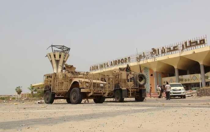 خبرنگاران درگیری نیروهای وابسته به امارات و عربستان در فرودگاه عدن