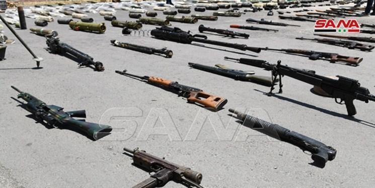 کشف مقادیر زیادی حشیش، موشک و اسلحه آمریکایی در مخفیگاه های تروریست ها در سوریه