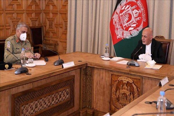 رئیس ستاد ارتش پاکستان با اشرف غنی ملاقات کرد