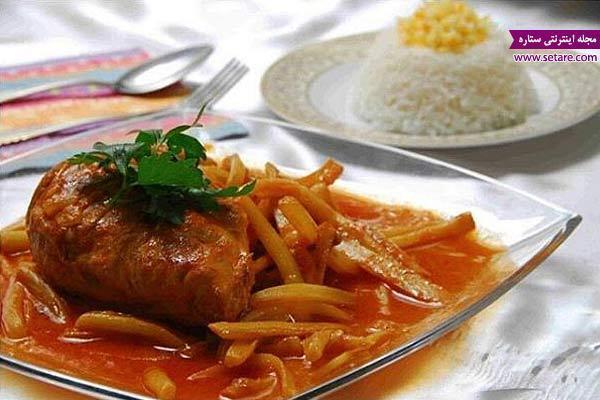 طرز تهیه خورش کنگر با مرغ