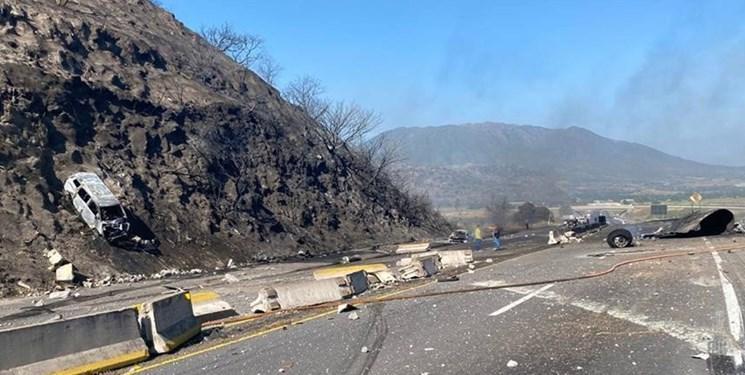 تصادف مرگبار تانکر در بزرگراه مکزیک با حداقل 14 کشته