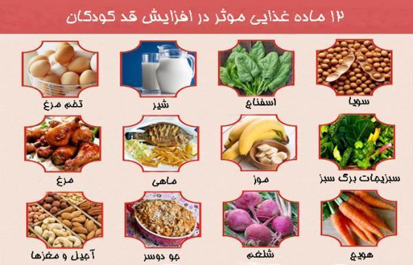 12 ماده غذایی موثر برای رشد قد بچه ها