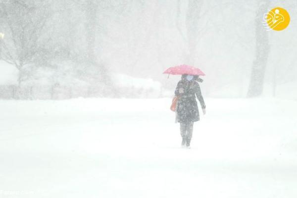 (تصاویر) طوفان برف در شمال شرق آمریکا