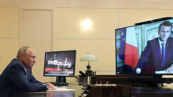 گفتگوی تلفنی پوتین و مکرون درباره لیبی، اوکراین و قره باغ
